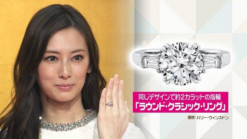 北川景子のハリーウインストン結婚指輪