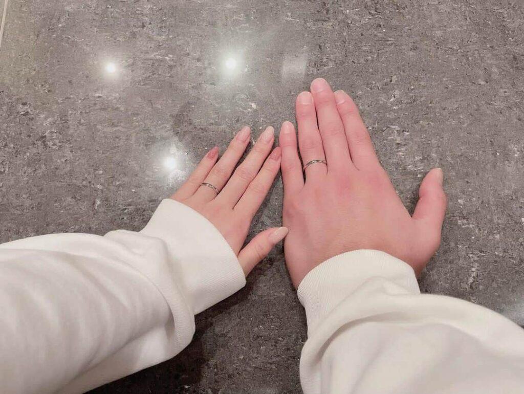 板野友美さんと高橋奎二さんの結婚指輪