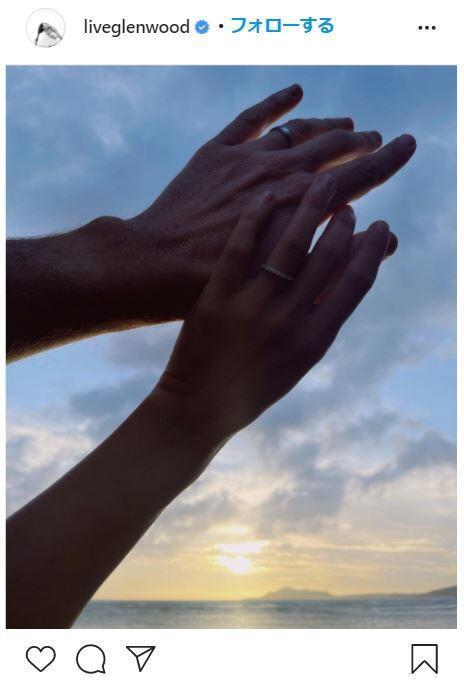 長谷川潤さんの結婚指輪